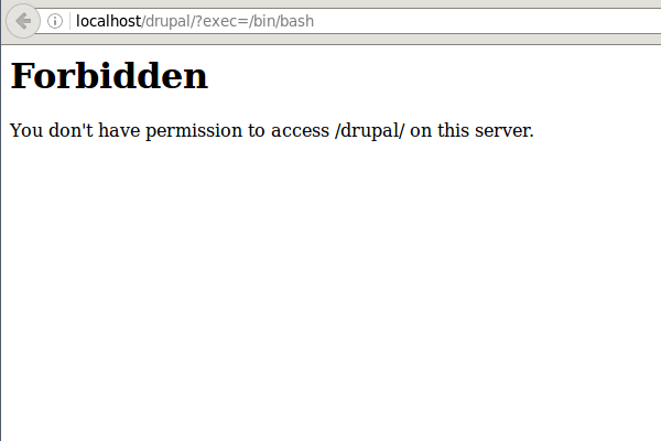 Drupal Forbidden Screenshot