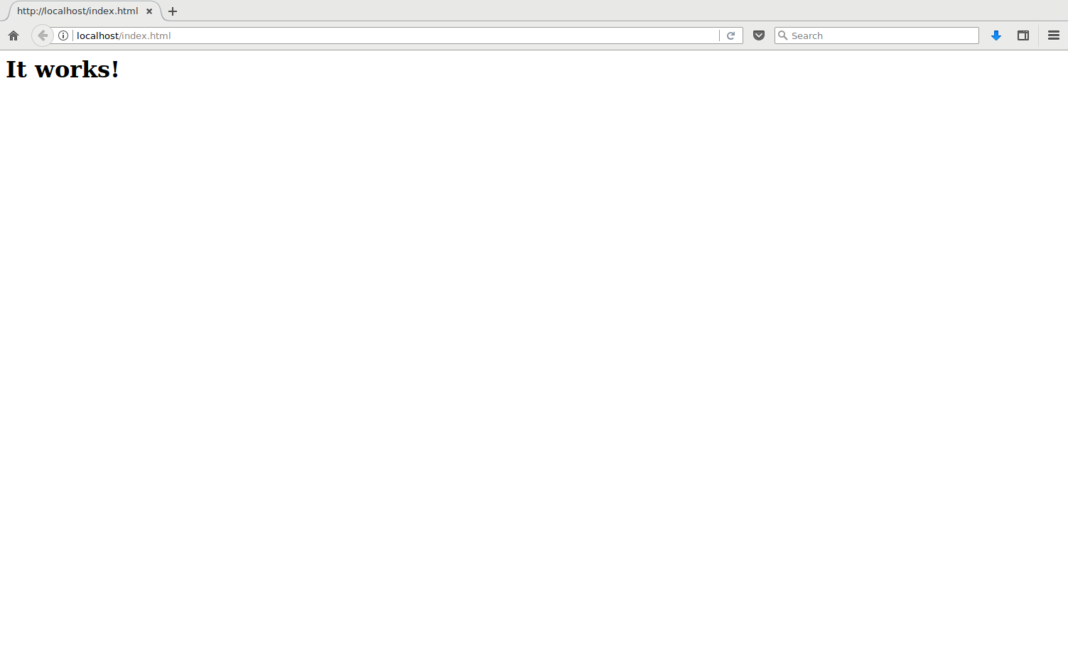 Screenshot: It works!